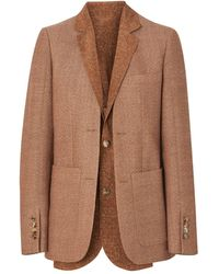 Burberry - Fish-scale Print Bib Detail Wool Tailored Jacket - Lyst