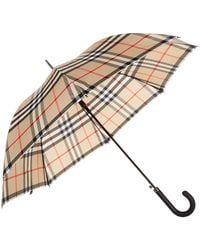 Burberry | Heritage Check Walking Umbrella | Lyst