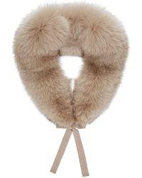Elena Miro - Ribbon Tied Fox Fur Collar - Lyst