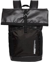 f579826233 Boohoo Black Roll Top Backpack in Black for Men - Lyst