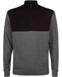 BOSS Green - Funnel Neck Zip-down Sweater - Lyst
