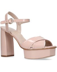 72a8946205c Stuart Weitzman - Patent Leather Exposed Platform Sandals - Lyst