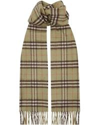 Burberry - Cashmere Vintage Check Scarf - Lyst