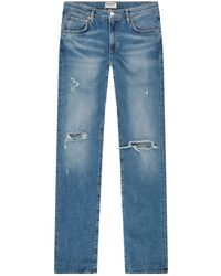 Agolde - Hitch Distressed Jeans - Lyst