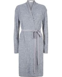 Lyst - Skin French Terry Robe in Gray e907b3860