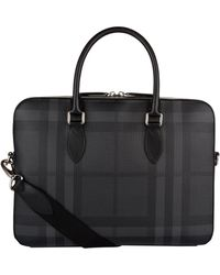 Burberry - London Check Briefcase - Lyst