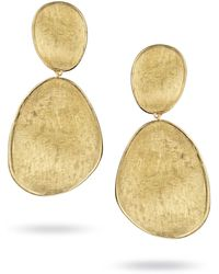 Marco Bicego - Yellow Gold Lunaria Two-drop Earrings - Lyst
