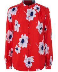 Equipment - Cornelia Floral Silk Shirt - Lyst