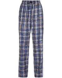 Burberry - Scribble Stripe Check Trousers - Lyst