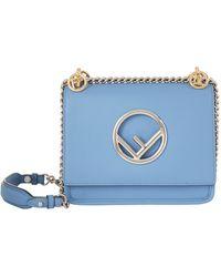 Fendi - Mini Kan I Leather Logo Shoulder Bag - Lyst