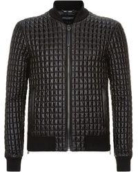 188d01ddeec9a3 Dolce   Gabbana - Quilted Zipped Jacket - Lyst
