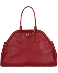 3ff76ba3ccece Lyst - Gucci Signature Leather Top-Handle Bag in Pink