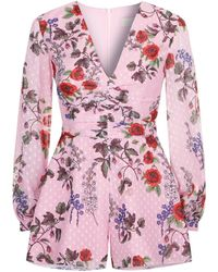 Keepsake - Need You Now Floral Playsuit - Lyst