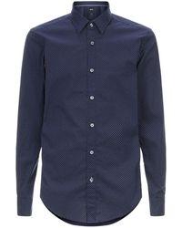 BOSS - Dotted Shirt - Lyst
