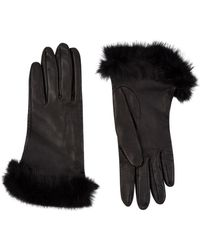 Harrods - Rex Fur Trimmed Leather Gloves - Lyst