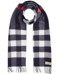 Burberry - Cashmere Check Print Scarf - Lyst