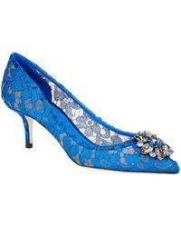 Dolce & Gabbana - Bellucci Lace 60mm Pump - Lyst