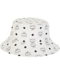 ba3da01330b Lyst - MCM Visetos Bucket Hat in White