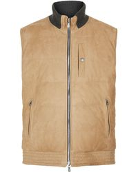 Brunello Cucinelli - Reversible Suede Padded Gilet - Lyst