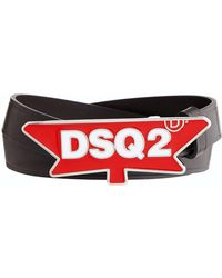 DSquared² - Leather Leaf Buckle Belt - Lyst