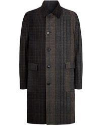 Stephan Schneider Wool Purpose Check Coat - Brown