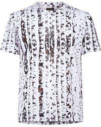 Ermenegildo Zegna - Textured Stripe T-shirt - Lyst