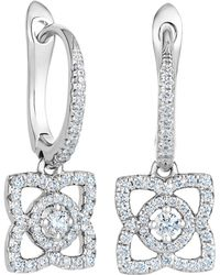 De Beers - White Gold Enchanted Lotus Sleeper Earrings - Lyst