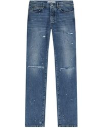 Givenchy - Destroyed Slim Fit Jeans - Lyst