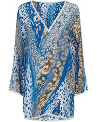 Shan - Animal Print Silk Tunic - Lyst