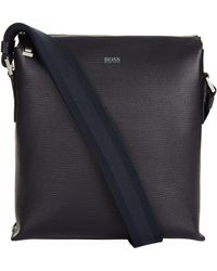 BOSS | Structured Leather Cross Body Bag | Lyst