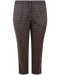 Elena Miro - Jacquard Print Skinny Trousers - Lyst