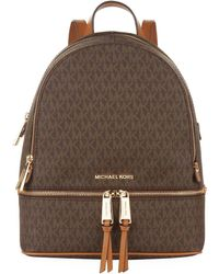 MICHAEL Michael Kors - Medium Logo Rhea Backpack - Lyst