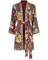 Alice + Olivia - Floral Print Belted Jacket - Lyst