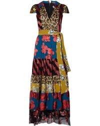 Alice + Olivia - Della Patchwork Maxi Dress - Lyst