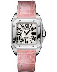 Cartier - Medium Steel Santos 100 Automatic Watch 35mm - Lyst