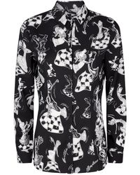 Boutique Moschino - Patterned Blouse - Lyst