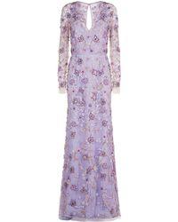Naeem Khan - Embellished V-neck Gown - Lyst