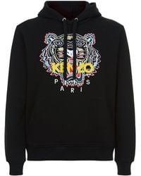 KENZO - Chinese Tiger Hoodie, Black Logo Sweat - Lyst