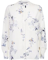Vince - Collarless Floral Blouse - Lyst