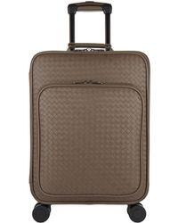 Bottega Veneta - Intrecciato Carry-on Suitcase - Lyst