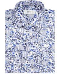 Eton of Sweden - Slim Fit Paisley Shirt - Lyst