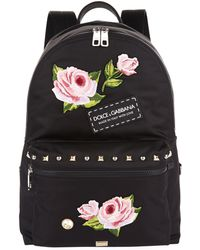 Dolce & Gabbana - Rose Embroidered Backpack - Lyst