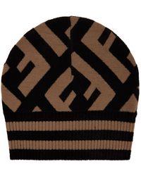 Fendi - Ff Logo Beanie Hat - Lyst