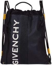 Givenchy - Reverse Logo Drawstring Backpack - Lyst