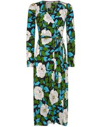 Diane von Furstenberg - Floral Silk Wrap Dress - Lyst