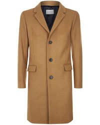 Sandro - Single-breasted Flannel Coat - Lyst