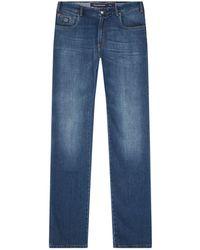 Paul & Shark - Lightweight Stretch Red Rivet Jeans - Lyst