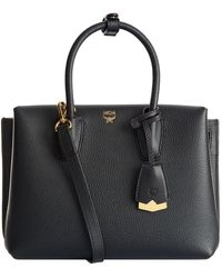 MCM - Small Milla Leather Tote Bag - Lyst