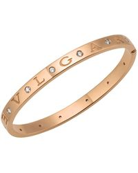BVLGARI - Rose Gold & Diamond B.zero1 Bangle - Lyst