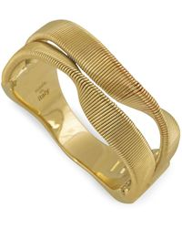 Marco Bicego - Yellow Gold Marrakech 2 Strand Twisted Ring - Lyst